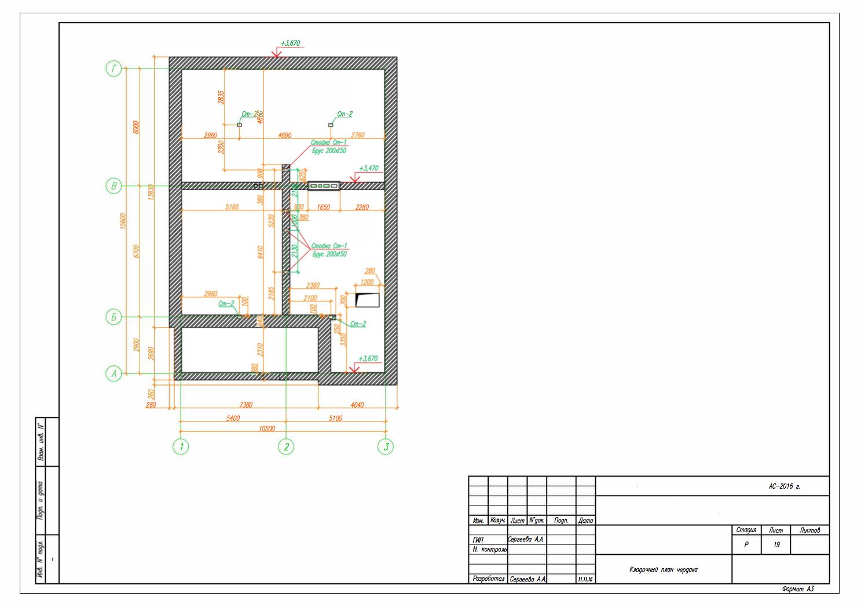 кладочный план чердака проектирование