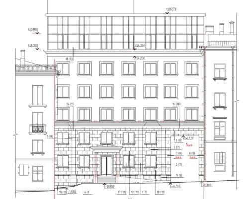 проработка плана-проекта фасада